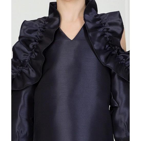 AQUARELLE RUFFLE DRESS